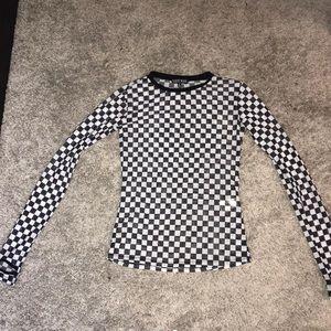 Dolls Kill Long Sleeve Checkered Shirt